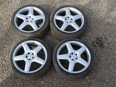 MERCEDES S-CLASS W221 20 INCH  ALLOY WHEELS AND TYRES GENUINE AMG S63  2006-2012