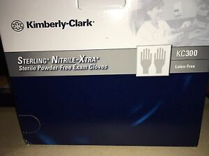 Kimberly Clark Small S Sterling Nitrile -xtra PF KC300 exam gloves Sealed 100