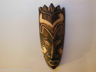 SMALL MASK BALINES CARNIVAL WOODEN HANDMADE WALL ...