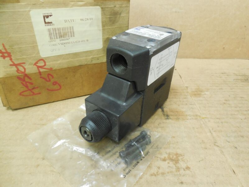 Continental Hydraulics Solenoid Valve 120V Coil 5000 PSI New