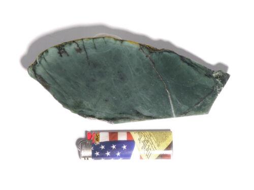 "Evergreen Jade™ 1/4"" Slab (Lapidary or Jewelry Rough Nephrite)"