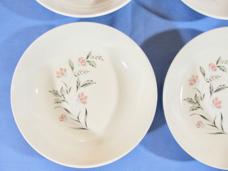 "Taylor Smith & Taylor Ever Yours Spring Glory 6 1/2"" Soup Cereal Bowls Lot of 4"