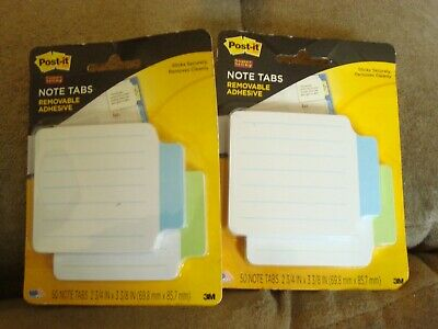 Post It Note Tabs 2200-gb Lot Of 2
