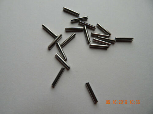 "STAINLESS STEEL ROLL PINS 1/8 x 3/4""  18-8.  25 PCS. NEW"