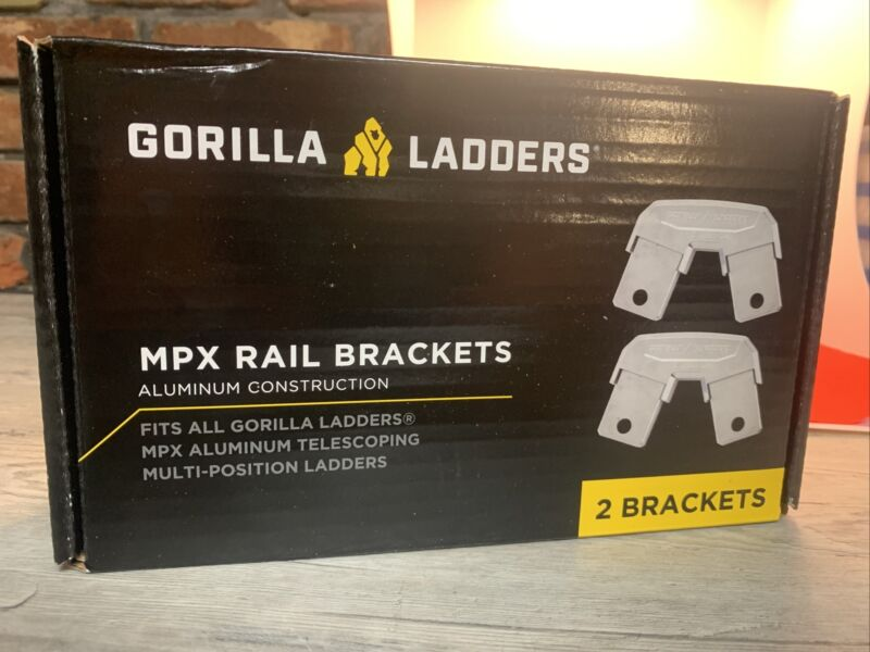 Ladder Parts Rail Brackets MPX Aluminum Lightweight Accessories 2 Pieces