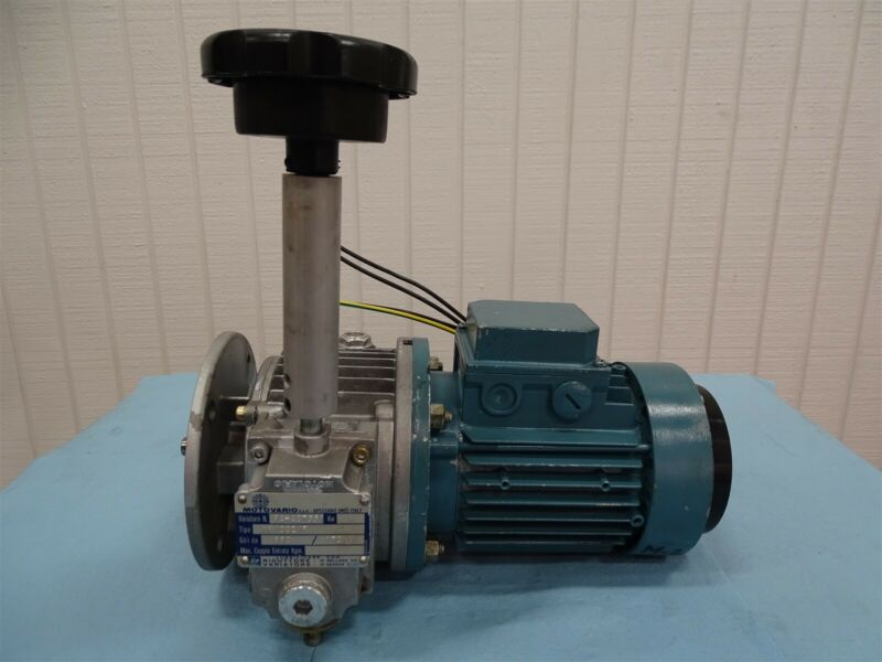 ABB Motori MU63B11F115-4 Motor w/ Motovario NK/002/F Gear Reducer