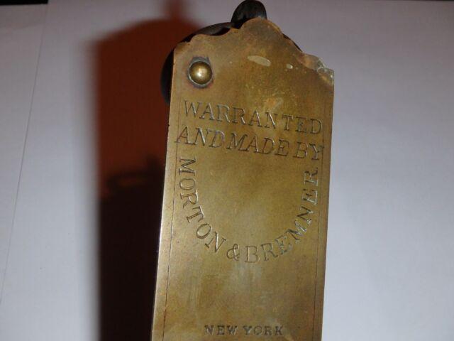 Vintage Antique Brass Morton & Bremner Spring Balance 24lb Scale - New York
