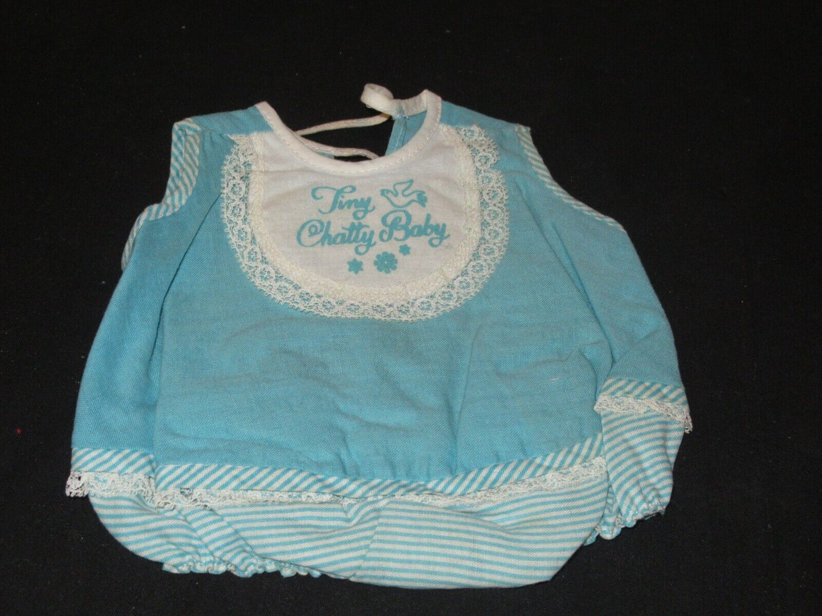 Vintage Tiny Chatty Baby Doll Swimsuit Outfit MB16  - $14.99