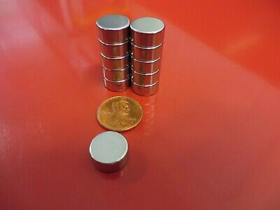 10 Large 12mm X 6mm Aprox 12 X 14 Neodymium Disc Magnets Strong Rare Earth