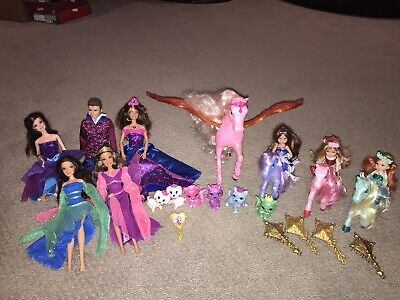 BARBIE AND THE DIAMOND CASTLE LOT WITH GLIMMER HORSE, MUSES, PRINCE IAN, PETS +