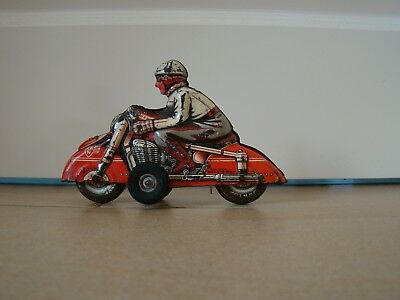 Blechspielzeug großes Motorrad Huki HK HKN Tinplate Tintoy Tole Jouet Germany