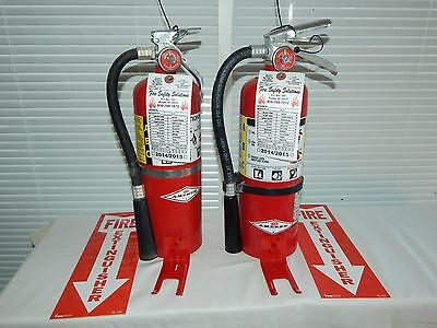 Fire Extinguisher - 5lb Abc Dry Chemical - Lot Of 2 Nice