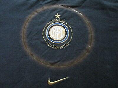 Nike 100th Anniversary Inter Milan Football Club Soccer T Shirt Size M Medium ()