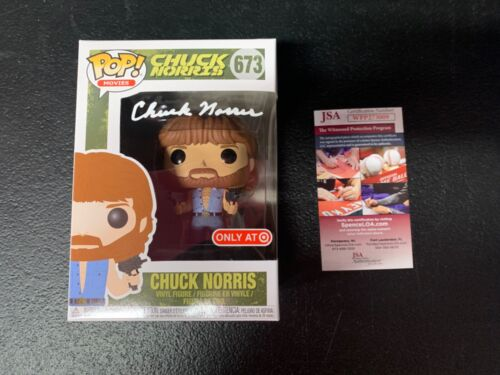 "Funko Pop Signed Chuck Norris ""Invasion USA""  Actor JSA Witness Autograph"