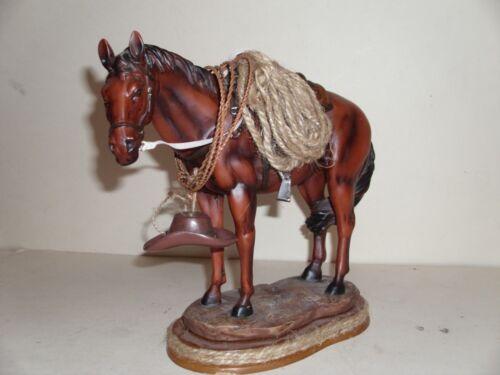 LARGE  CERIMIC WESTERN HORSE FIGURINE