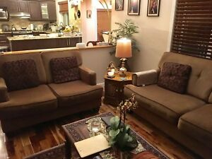 Sofa, love seat and recliner