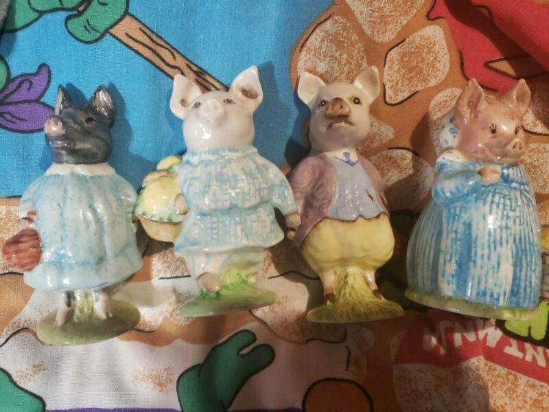 Lot Of 4 Beswick Vintage Beatrix Potter Pigs