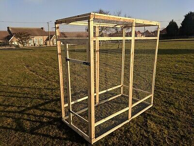 Poultry Panels 6ft x 3ft 19G with Door Aviary Run Chicken Rabbits Puppy Dogs