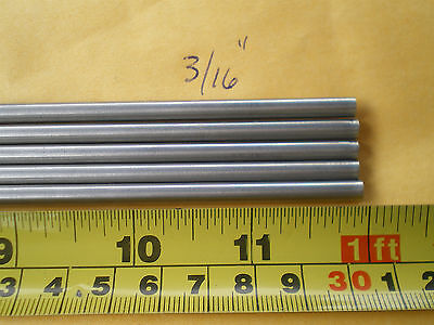 1 Pcs. Stainless Steel Round Rod 304 316 .192 4.88mm. X 12 Long