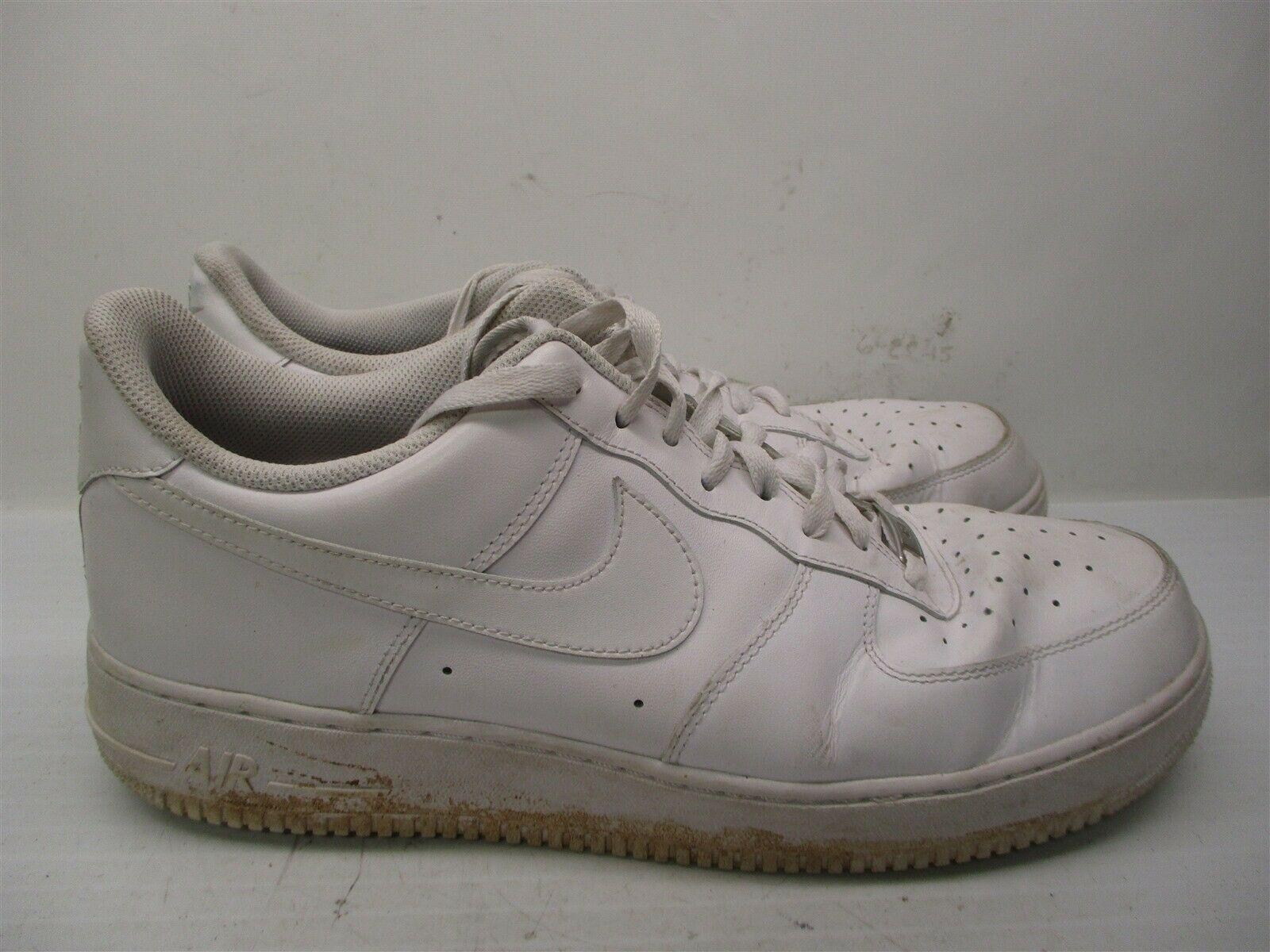823859d5414b3 Details about NIKE Sneakers Men's Size 13 Athletic AIR FORCE 1 Low Top  White Leather