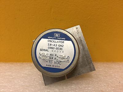 Hp Agilent 0960-2035 2.8 To 4.3 Ghz -10 Vdc Sma F Yig Oscillator