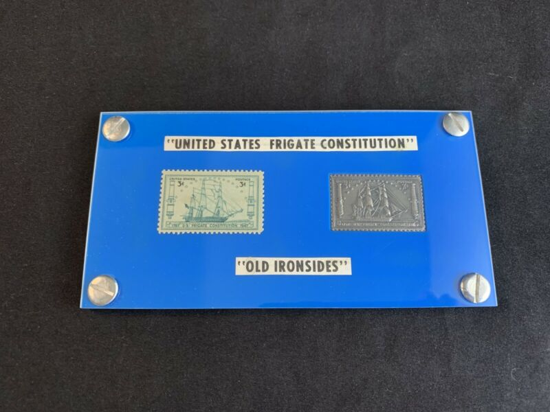 Vintage 1947 United States Frigate Constitution Old Ironsides 3 Cent Stamps