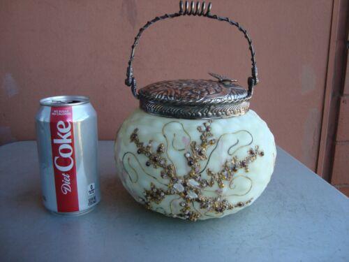 Crown Milano Mt Washington Jewelled Biscuit Jar