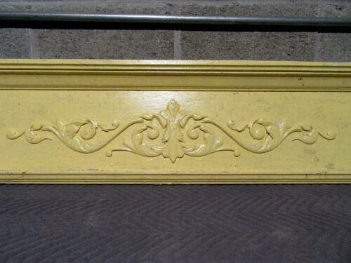 ~ ANTIQUE CARVED OAK PEDIMENT ~ 70 INCHES WIDE ~ ARCHITECTURAL SALVAGE ~
