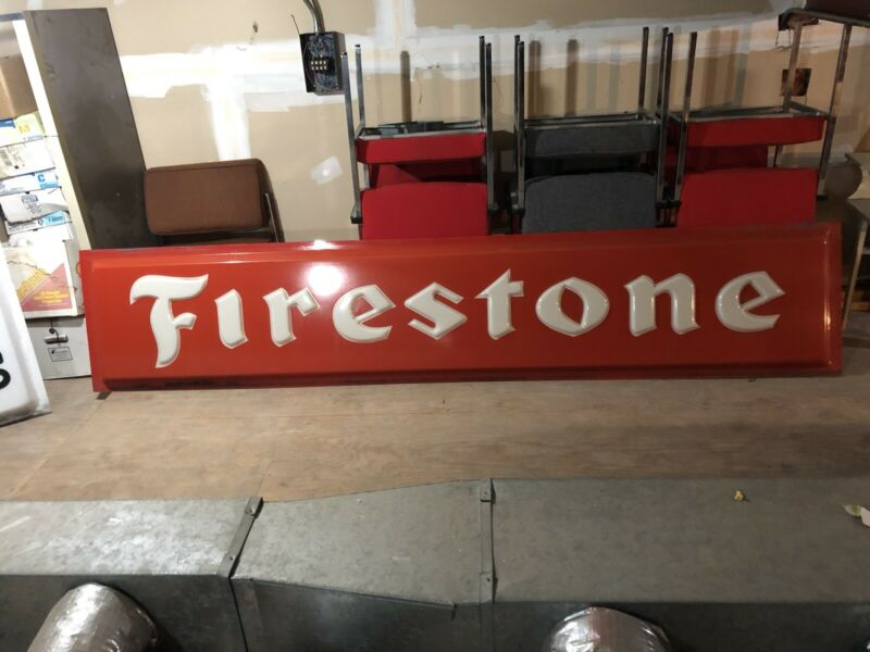 10 X 2 Foot Firestone Lighted Sign
