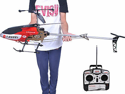 53 Inch Extra Large Gt Qs8006 2 Speed 3 5 Ch Rc Helicopter Builtin Gyro Red