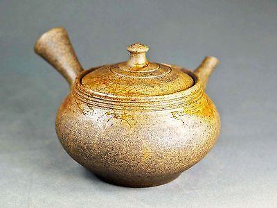 Tokoname Hand-made Mogake Teapot Kyusu by Jin, #jin043 : D91*H74mm, 190ml