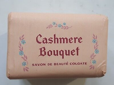 VINTAGE CASHMERE BOUQUET 3 SAVONS COLGATE PALMOLIVE 60'S 3 SOAPS PROMOTION d'occasion  Schaerbeek