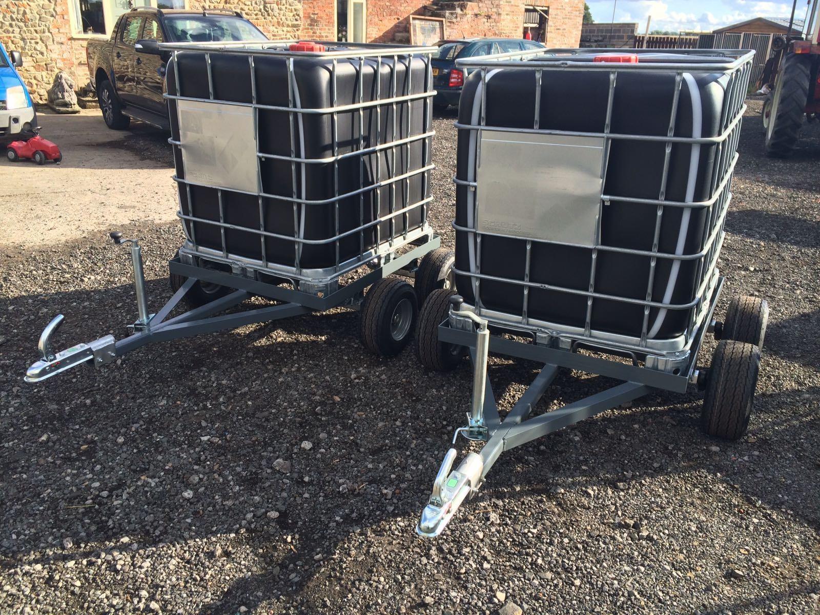 QUAD  TRAILER AXLE WATER BOWSER IBC TRANSPORT, SHEEP LAMA COWS  tractors ATV