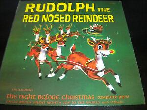 Rudolph-The-Red-Reno-Con-Nariz-Noche-Antes-De-Navidad-Disco-Vinilo-Album-LP
