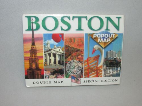 Popout Map * Boston Massachusetts * Greater/Downtown/Subway * Pocket Size * 2001