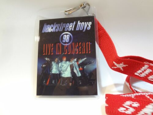 Backstreet Boys Backstreets Back Tour 1998 laminate Lanyard VTG Concert