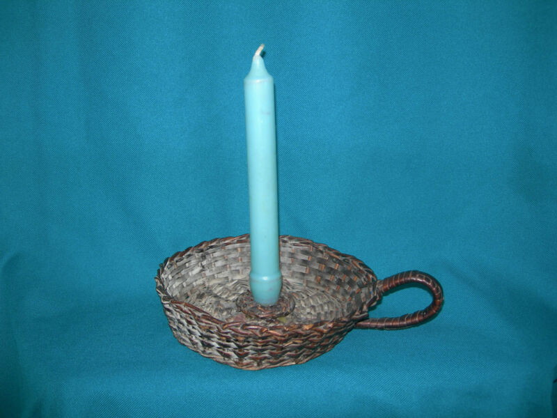 Antique Cane Chamberstick Candlestick *Rare*