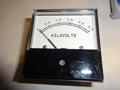 Yokogawa 930019 0290 0-2.5 Kilovoltsor 0-5 Face 2 58 Panel Meter Beede