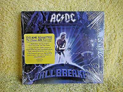 BRAND NEW/SEALED CD! AC/DC BALLBREAKER REMASTERS CD! CARD CASE! +16 PG. BOOKLET  for sale  Shipping to India