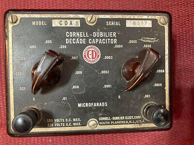 Capacitor Decade Box Model Cda5 Cornell-dubilier .0001-.01uf