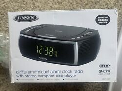 Jensen Limited Model JCR-322 AM/FM Stereo Dual Alarm Clock Radio With CD Player