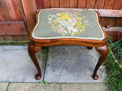 Old Vintage Wooden Piano Stool Seat Chair