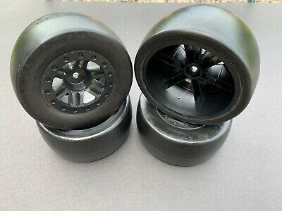 SCT Slash short course and slash truck tires ( Slick Black  )