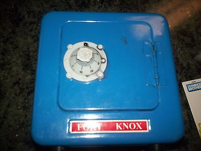 Vintage Fort Knox Combination Lock Safe METAL  COIN CHILD  Piggy Bank