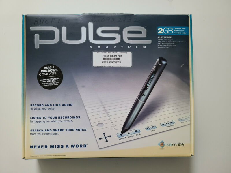 Pulse Livescribe 2GB Smartpen Mac & Windows Complete Set NEW