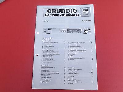 Grundig SCF 6000 Cassettendeck org. Service Anleitung Manual  online kaufen