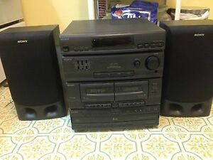 Sony Sound system with multi-CD, cassette, and tuner