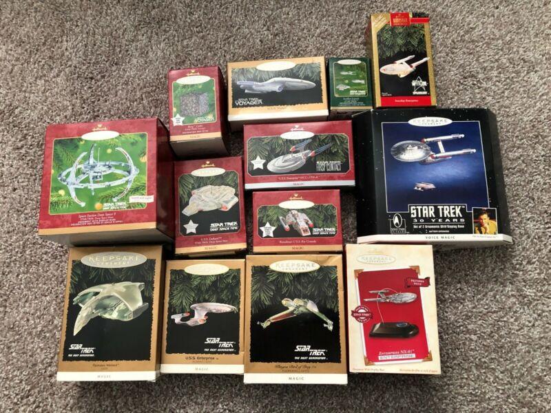 Star Trek Hallmark Keepsake Christmas Ornaments! Buy as a lot!