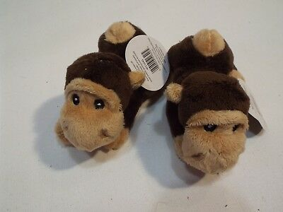 NWT lot of 2 small stuffed monkeys free shipping