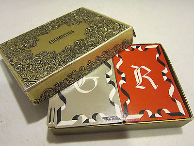Vintage Congress Enchanting cards - Monograms G & R double deck w jokers VGC